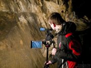 Záběry jeskynních stěn Na Špičáku