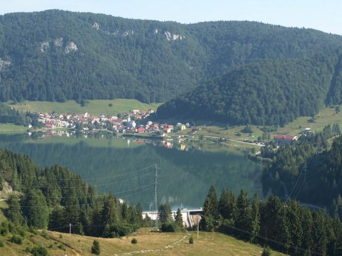 Výhled na obec Dedinky